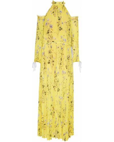 Платье макси плиссированное с вырезом Self-portrait