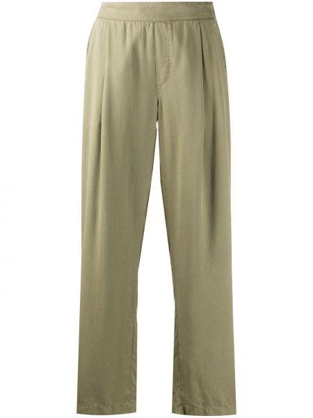 Свободные зеленые свободные брюки с поясом свободного кроя Woolrich