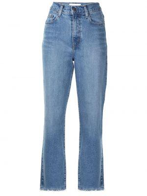 Хлопковые синие прямые джинсы Nobody Denim