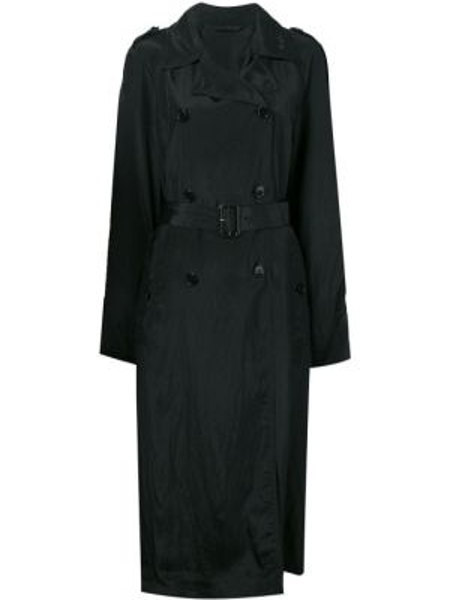 Пальто пальто-тренч черное Helmut Lang
