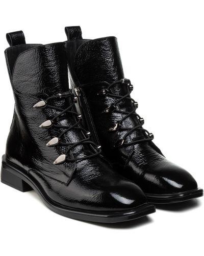 Ботинки с мехом - черные Molly Bessa