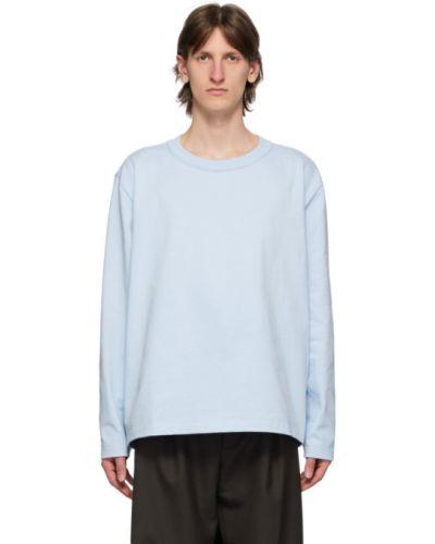 С рукавами синяя облегченная рубашка с воротником Camiel Fortgens