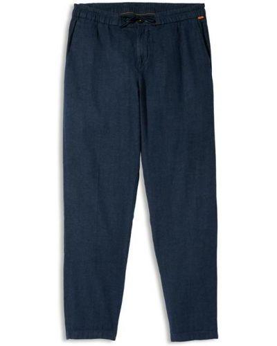 Хлопковые повседневные синие брюки Timberland