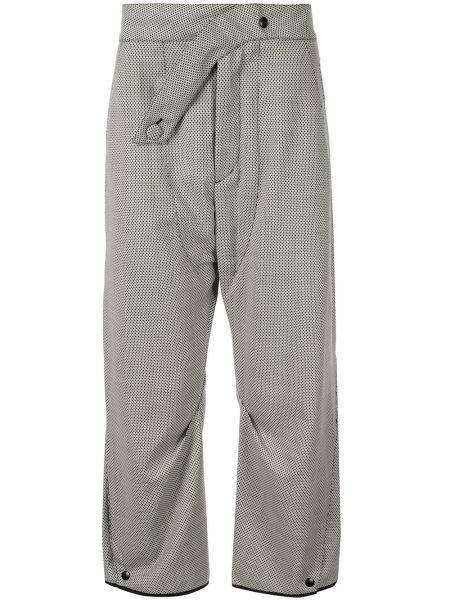 Spodnie bawełniane z printem asymetryczne Kiko Kostadinov