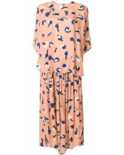 Платье розовое шелковое Henrik Vibskov