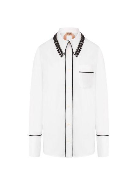 Черная деловая рубашка с воротником для офиса No. 21