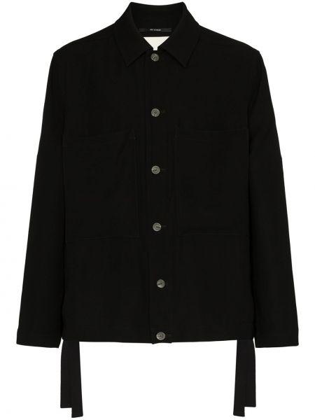 Czarna długa kurtka z długimi rękawami Song For The Mute