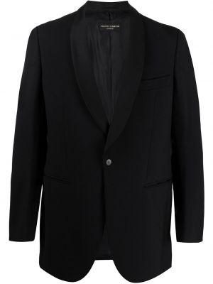 Черный однобортный пиджак на пуговицах с карманами Pierre Cardin Pre-owned
