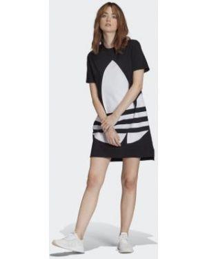 Платье макси футболка длинное Adidas