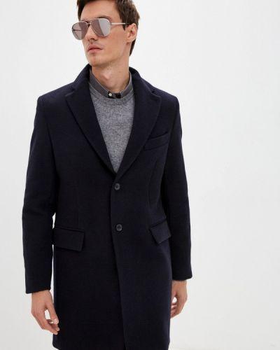 Синее зимнее пальто Trussardi