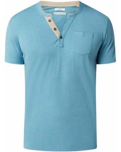 T-shirt bawełniana turkusowa Tom Tailor