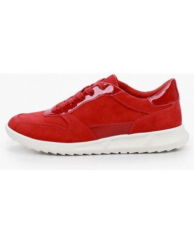 Текстильные красные кроссовки Tamaris