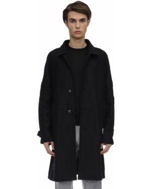 Czarny płaszcz wełniany Danilo Paura