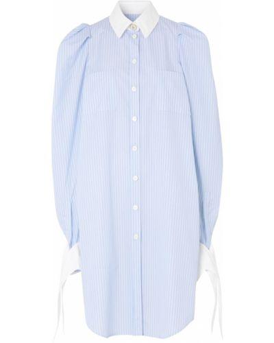 Свободное белое платье-рубашка свободного кроя Burberry