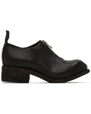 Loafers skórzany czarny Guidi