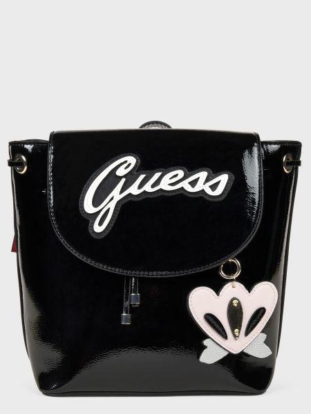 Кожаный рюкзак - черный Guess