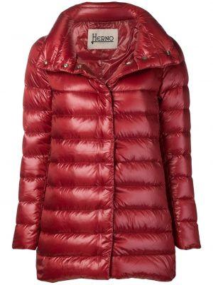 Płaszcz pikowany bawełniany z długimi rękawami Herno