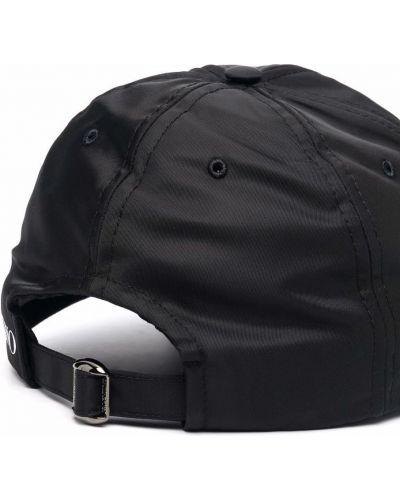 Черная бейсболка с вышивкой Valentino