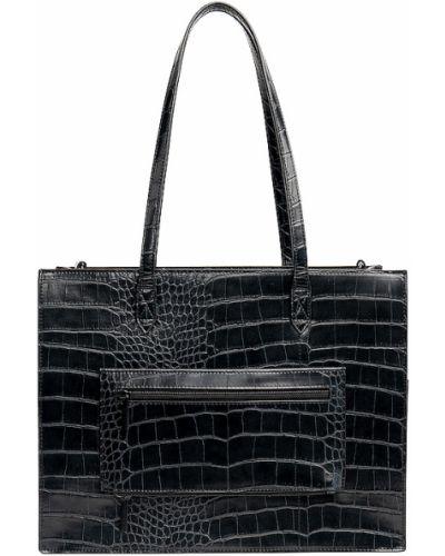 Czarna torebka skórzana do pracy Beis