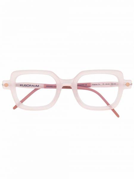 Оправа для очков прозрачные - розовые Kuboraum