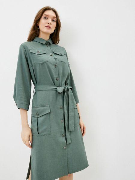 Платье платье-рубашка зеленый Dizzyway