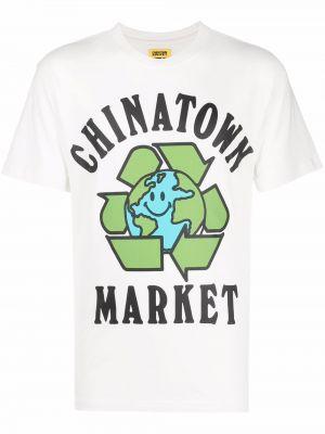 Лонгслив с принтом - белая Chinatown Market