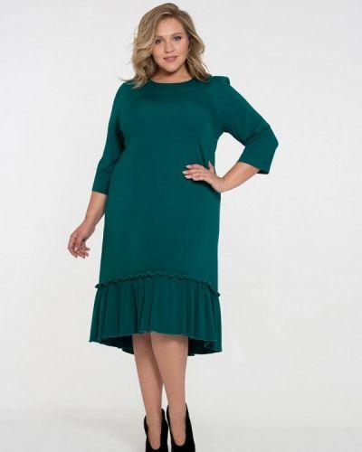 Платье осеннее бирюзовый Intikoma