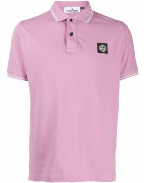 Фиолетовая классическая рубашка с воротником с манжетами Stone Island