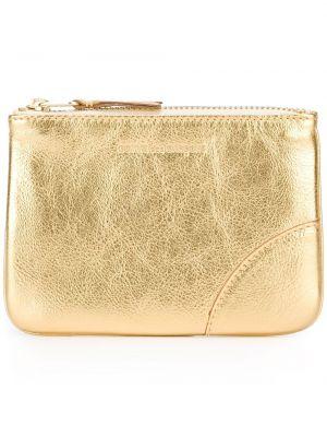 Классический кожаный кошелек золотой Comme Des Garçons Wallet