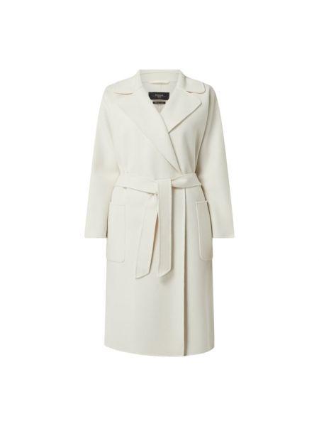 Płaszcz wiązany z wiązaniami - biały Weekend Max Mara