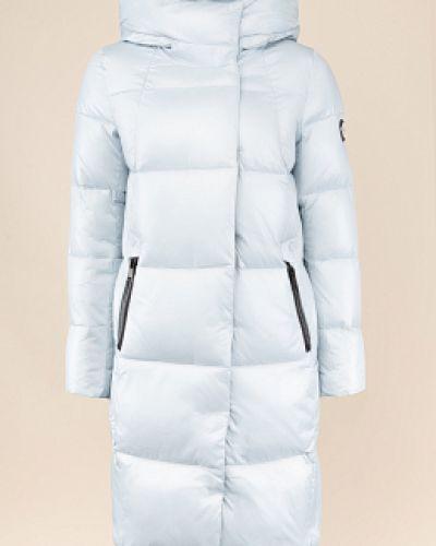 Текстильный прямой пуховик с капюшоном Snowimage