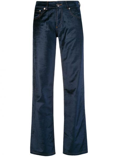 Niebieskie spodnie bawełniane z paskiem Each X Other