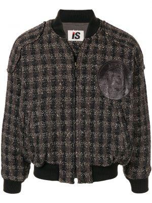 Акриловая черная куртка в рубчик на молнии Issey Miyake Pre-owned