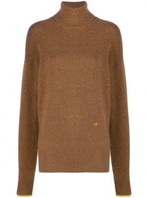 Шерстяной свитер - коричневый Victoria Beckham