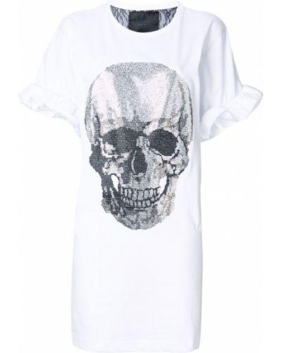 Белая рубашка хлопковая Philipp Plein