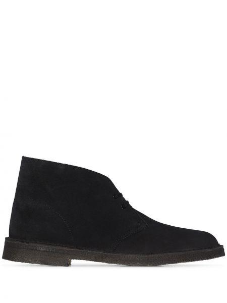 Кожаные черные кожаные ботинки на шнуровке Clarks Originals