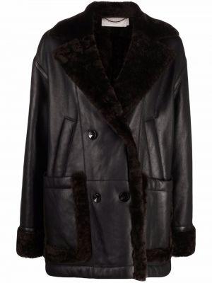 Czarny płaszcz bawełniany Agnona