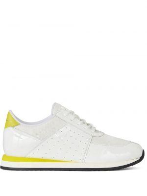 Koronkowa żółty skórzany sneakersy Giuseppe Zanotti