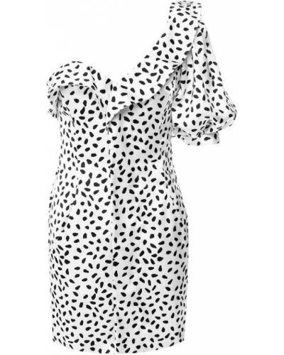 Платье мини с оборками шелковое Self-portrait
