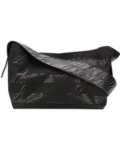 Хлопковая черная сумка на плечо на молнии с карманами We11done