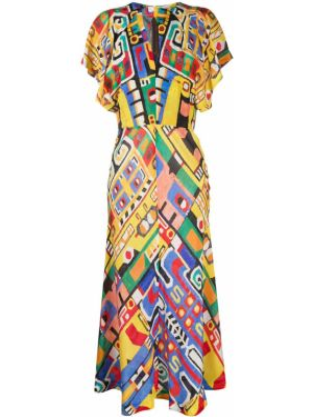 Платье мини миди на молнии Stella Jean