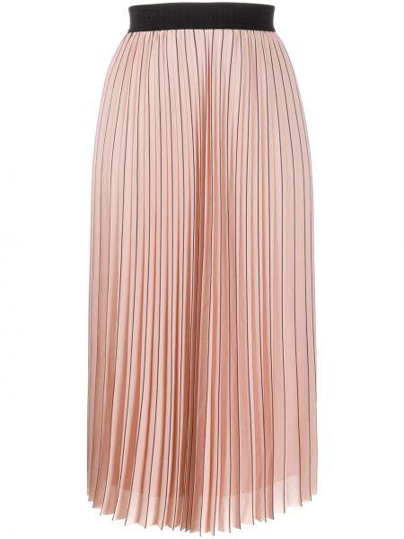 Spódnica plisowana różowy na gumce Karl Lagerfeld