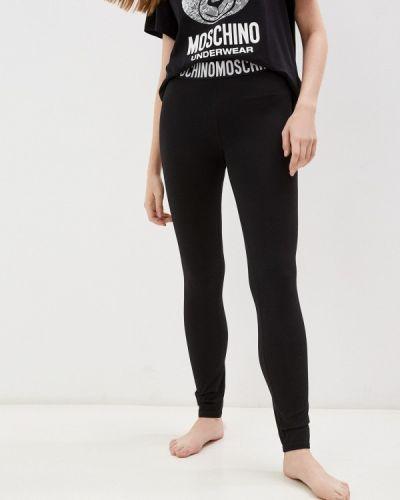 Черные леггинсы осенние Moschino Underwear