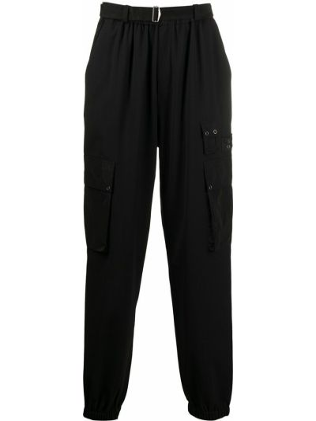Spodnie z klamrą - czarne Mcq Alexander Mcqueen