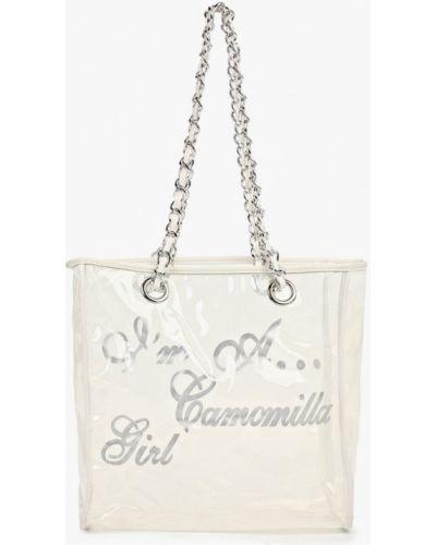 Сумка шоппер белый весенний Camomilla Italia