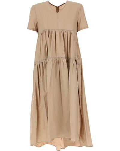Sukienka wieczorowa bawełniana krótki rękaw safari Semicouture