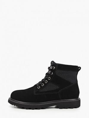 Черные велюровые ботинки Abricot