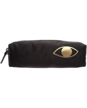 Czarny portfel z nylonu Lulu Guinness