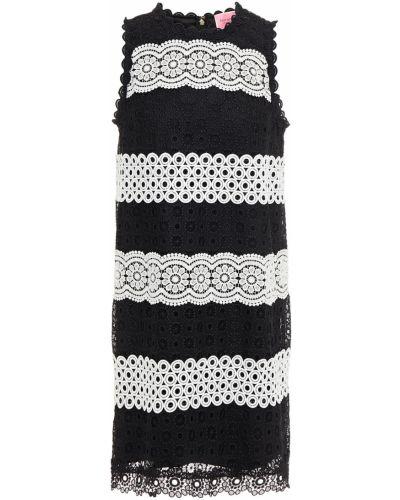 Гипюровое кружевное черное платье мини Kate Spade New York