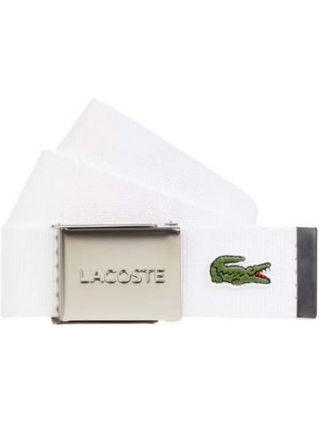 Pasek z klamrą - biały Lacoste